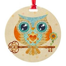 Owls Summer Love Letters Ornament