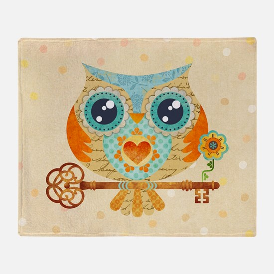Owls Summer Love Letters Throw Blanket