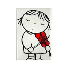 1969 Netherlands Child Violinist  Rectangle Magnet
