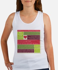 Christ in Christmas2013 - square Women's Tank Top