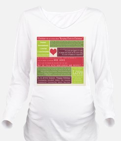 Christ in Christmas2 Long Sleeve Maternity T-Shirt