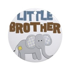 Little Bro Elephant Round Ornament