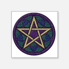 "Purple Pentacle Square Sticker 3"" x 3"""