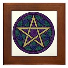 Purple Pentacle Framed Tile