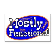 Mostly Functional Rectangle Car Magnet