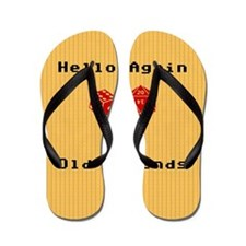 Greetings With Roleplaying Dice Flip Flops