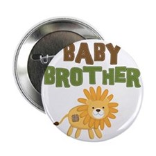 "Baby Bro Lion 2.25"" Button"