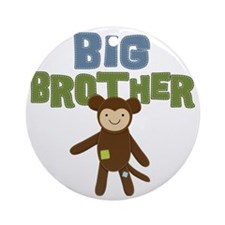 Big Bro Monkey Round Ornament