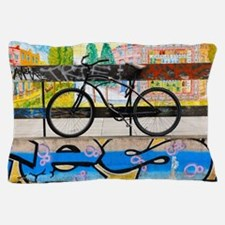 On your Bike Banksey Pillow Case