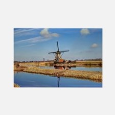 Windmill in Holland Rectangle Magnet