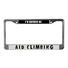 Aid Climbing License Plate Frame
