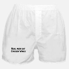 Men eat Chicken Wings Boxer Shorts