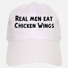 Men eat Chicken Wings Baseball Baseball Cap