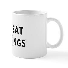 Men eat Chicken Wings Mug