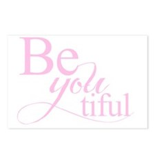 Be you tiful pink Postcards (Package of 8)