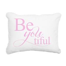 Be you tiful pink Rectangular Canvas Pillow
