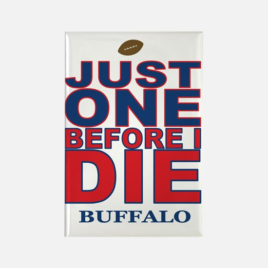 Just One Before I Die Buffalo Rectangle Magnet