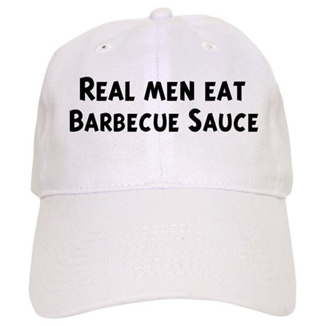 Men eat Barbecue Sauce Cap