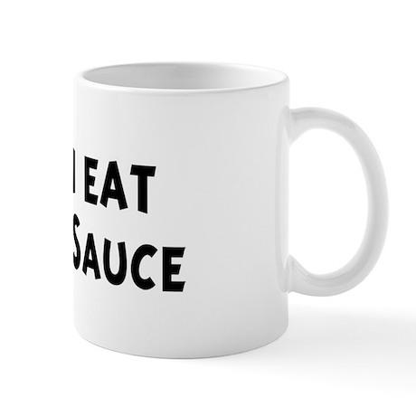 Men eat Barbecue Sauce Mug