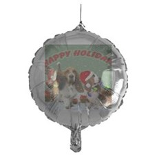 Basset Hound Happy Holidays Balloon