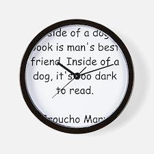 Too Dark to Read Wall Clock