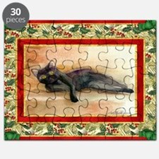 Bombay Cat Christmas Puzzle