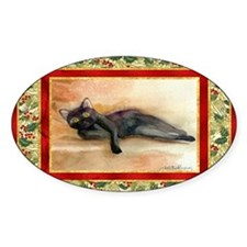 Bombay Cat Christmas Decal