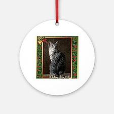 Egyptian Mau Cat Christmas Round Ornament