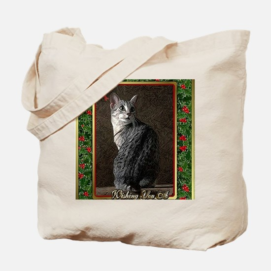Egyptian Mau Cat Christmas Tote Bag