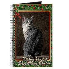 Egyptian Mau Cat Christmas Journal