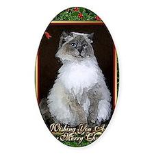 Ragdoll Cat Christmas Card Decal