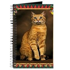 Red Tabby Cat Christmas Journal
