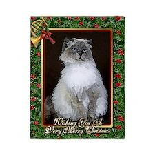 Ragdoll Cat Christmas Card Twin Duvet
