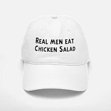 Men eat Chicken Salad Baseball Baseball Cap