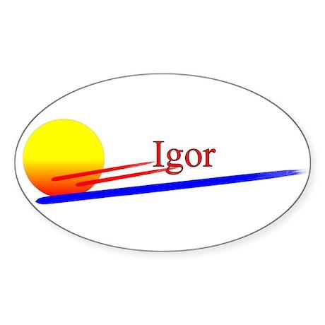 Igor Oval Sticker
