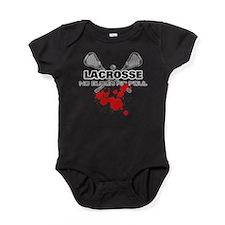 Lacrosse No Blood No Foul Baby Bodysuit