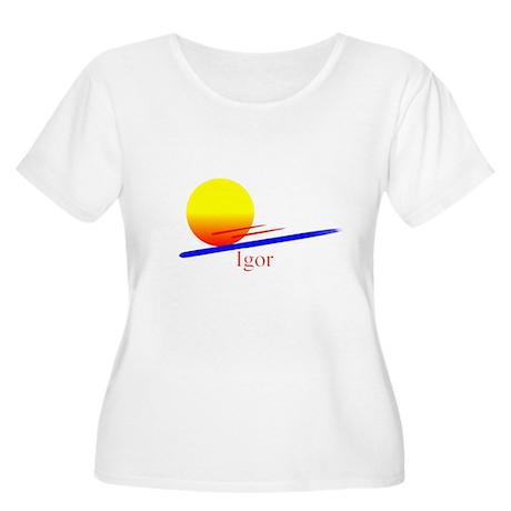 Igor Women's Plus Size Scoop Neck T-Shirt
