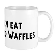 Men eat Chicken And Waffles Mug