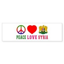Peace Love Syria Bumper Sticker