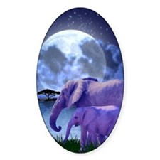 Contemplative Elephants Decal