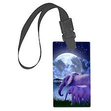 Contemplative Elephants Luggage Tag