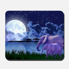 Contemplative Elephants Mousepad