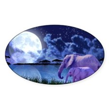 Contemplative Elephants Decal