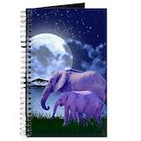 Contemplative elephants Journals & Spiral Notebooks