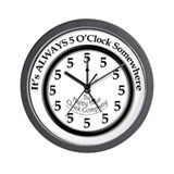 5 oclock Wall Clocks