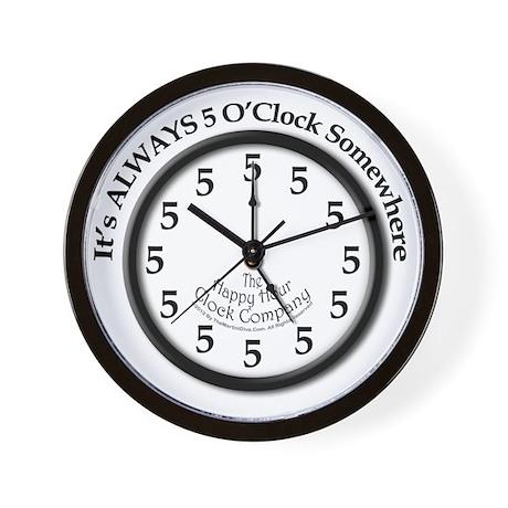 Always5oClock Wall Clock