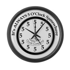 Always5oClock Large Wall Clock