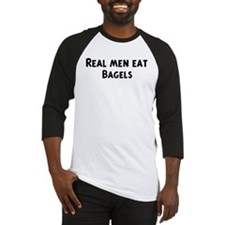 Men eat Bagels Baseball Jersey