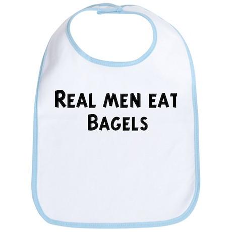 Men eat Bagels Bib
