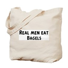 Men eat Bagels Tote Bag